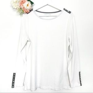 Soft Surroundings Long Sleeve Thermal Top Size Med